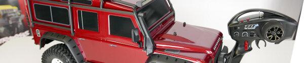 Traxxas TRX-4 Land Rover Defender Projektumbau (Motor, Beleuchtung, Räder und Sound)