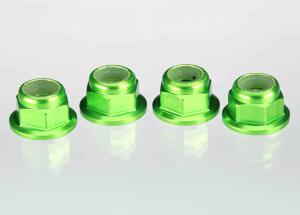 Traxxas TRX1747G Muttern mit Flansch 4mm grün