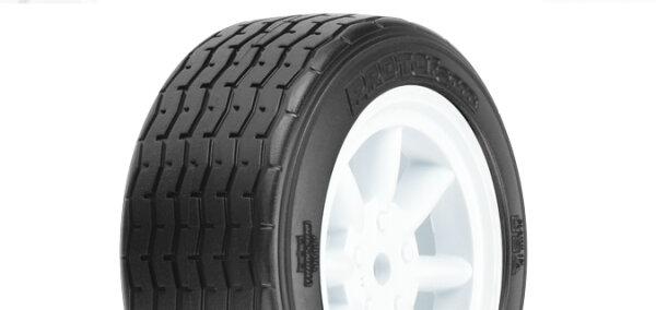 Proline 10140-17 VTA Reifen vorn (26mm) auf Felge weiss verklebt (2 Stk.)