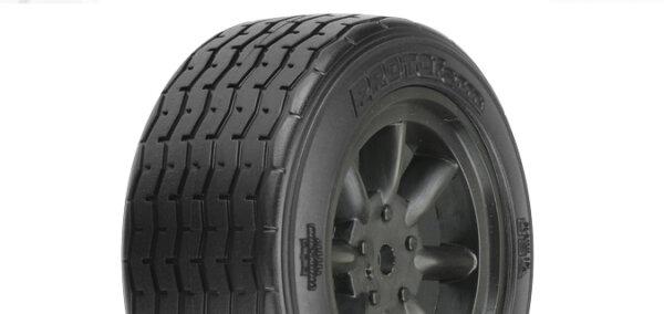 Proline 10140-18 VTA Reifen vorn (26mm) auf Felge schwarz verklebt (2 Stk.)