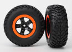 Traxxas Reifen+Felge montiert Slash hi schw/orange...