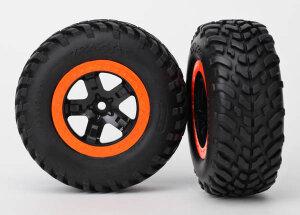 Traxxas Reifen+Felge montiert S1-Compund Foam-Einlage...
