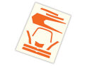 Traxxas TRX7982 Decals, High Visibility, orange ATON