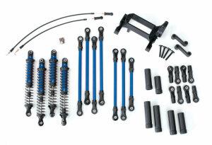 Traxxas TRX8140X TRX-4 Long Arm Lift Kit komplett blau