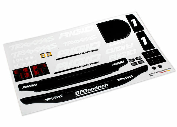 Traxxas TRX8516 Decals, Unlimited Desert Racer, Rigid...
