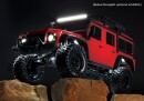 Traxxas 82056-4 TRX-4 Land Rover Defender Rot 1:10 4WD RTR Crawler TQi 2.4GHz Wireless mit Traxxas 3S Combo