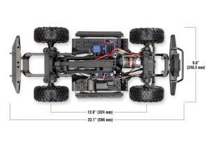 Traxxas 82056-4 TRX-4 Land Rover Defender Grau 1:10 4WD RTR Crawler TQi 2.4GHz Wireless mit Traxxas 2S Combo