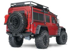 Traxxas 82056-4 TRX-4 Land Rover Defender Grau 1:10 4WD RTR Crawler TQi 2.4GHz Wireless mit Traxxas 3S Combo