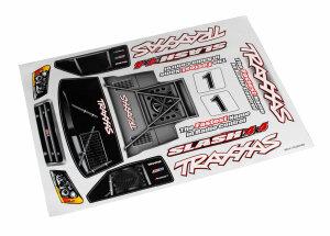Traxxas TRX6813R Decal Sheet Dekorbogen Aufkleber Slash 4X4