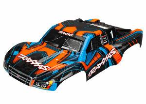Traxxas TRX6844 Karosserie Slash 4X4 orange mit blau...