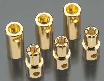 Tekin TT3055 Solid High Power 5.5mm Gold Connector (3 sets)