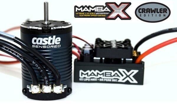 Castle Creations 010-0155-10 Mamba X 1-8, 1-10 Crawler Edition 1406-2850KV Sensor-Motor Set