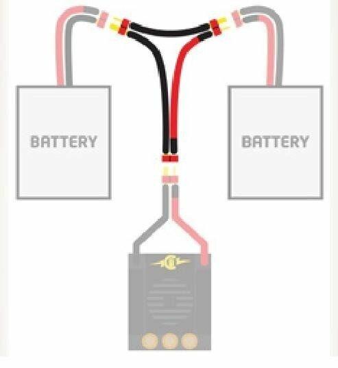 Castle Creations 011-0002-00 Kabel zum Seriel Anschluss von 2 Stück Akkus an