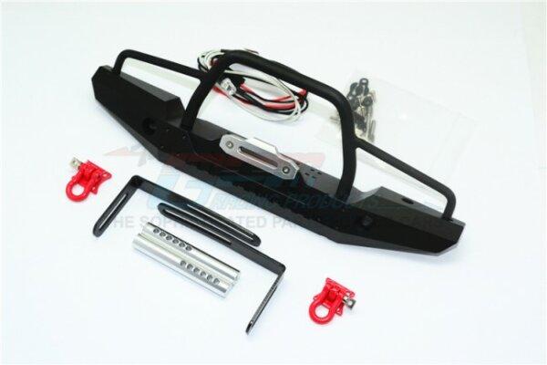 GPM-ZSP025-BK TRX-4 Defender Aluminium Frontstoßstange Mit Led-leuchten Für Crawler (A) -30 Pc Set