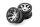 Axial AXIC8137 / AX08137 2.2 Rebel-Felgen 41mm breit Chrm/Blk (2)