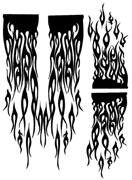 Parma PA10830 Airbrush Maske Ghost Flames