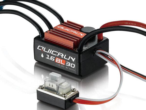Hobbywing HW30110000 QuicRun WP16BL30 Brushless Regler 30A für 1:16