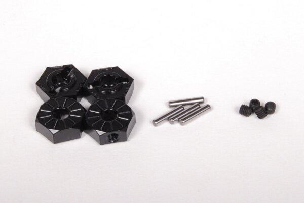Axial AXIC3042 / AX30427 Aluminium Nabe schmal 12mm Schwarz (4)