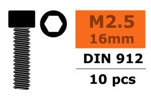 GForce GF-0100-013 Zylinderkopfschraube Innensechskant M2,5X16 Stahl 10 St