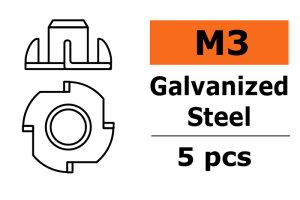 GForce GF-0149-001 Einschlagmutter M3 Galvanisierter...