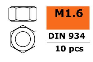 GForce GF-0150-001 Sechskantmutter M1.6 Galvanisierter...