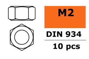 GForce GF-0150-002 Sechskantmutter M2 Galvanisierter...