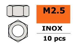 GForce GF-0250-002 Sechskantmutter M2,5 Inox 10 St