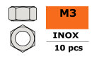GForce GF-0250-003 Sechskantmutter M3 Inox 10 St
