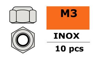 GForce GF-0252-001 Sechskantmutter Selbstsichernd M3 Inox...