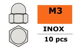 GForce GF-0253-001 Hutmutter M3 Inox 10 St
