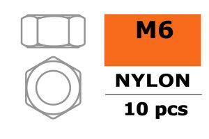 GForce GF-0300-004 Sechskantmutter M6 Nylon 10 St