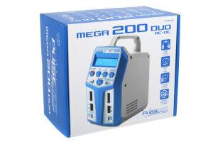 PulseTec PC-019-003 Dual Charger Mega 200 Duo Ac 100-240V Dc 11-18V 2X 100W Power 0.1-12A 1-6 Li-Xx 1-15 Ni-Xx 2-20V Pb