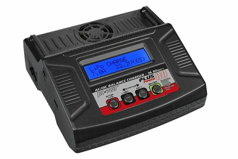 RC Plus RC-CHA-212 Power Plus 80 Charger/Ladegerät AC-DC 7A 80 Watt