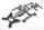 Axial AXIC3111 / AX31111 Stoßdämpferturm/Karosseriepfostensatz Yeti