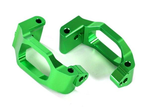 Traxxas TRX8932G Caster-Blocks (C-Hubs) l/r Alu grün