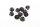 Axial AXIC3150 / AX31250 Gezahnte Nylon Sicherungsmutter Schwarz 4mm (10)