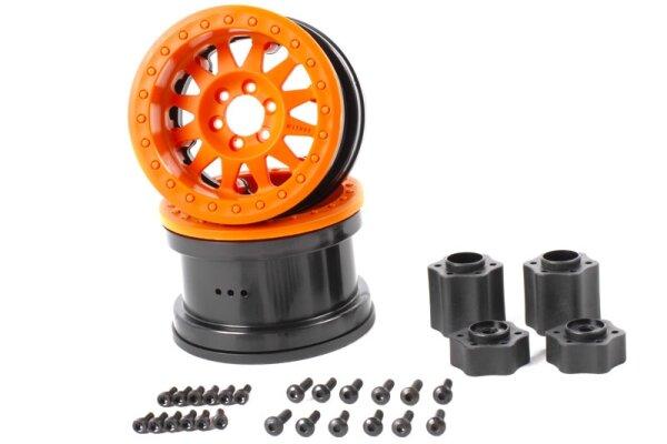 Axial AXIC8078 / AX31364 2.2 Method Beadlock Felge IFD Orange (2)