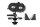 Axial AXIC3377 / AX31377 2-Gang-Getriebe Motorhalterung SCX10 II