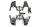 Axial AXIC3138 / AX31380 Stoßdämpferbügel SCX10 II
