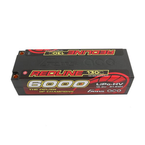 Gens Ace B-RL-130C-6000-4S1P-HC-59-HV 6000mAh 15.2V 4S LiHV-Akku 130C no plug