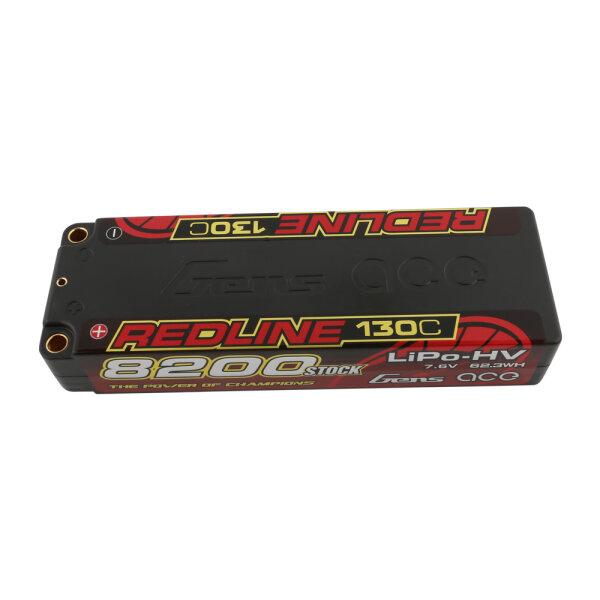 Gens Ace B-RL-130C-8200-2S1P-HC-58-HV 8200mAh 7.6V 2S LiHV-Akku 130C 5.0mm bullet