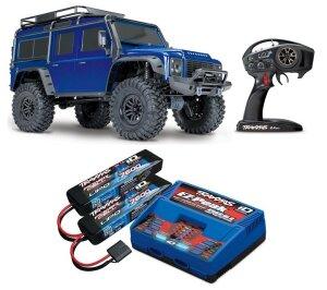 Traxxas 82056-4 TRX-4 Land Rover Defender Blau 1:10 4WD...