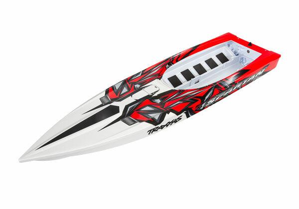 Traxxas TRX5718R Rumpf Spartan REDX Grafik (montiert)