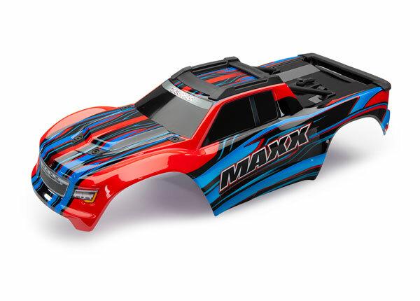 Traxxas TRX8911P Karosserie MAXX rot mit Aufkleber