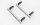 RC4WD VVV-C0974 Tonfa-Seitenleisten für Traxxas Mercedes-Benz G Trucks Silber