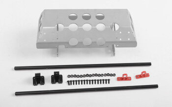 RC4WD VVV-C0983 Tarka Stahlrohrstoßstange mit Gleitplatte und D-Ring-Halterungen
