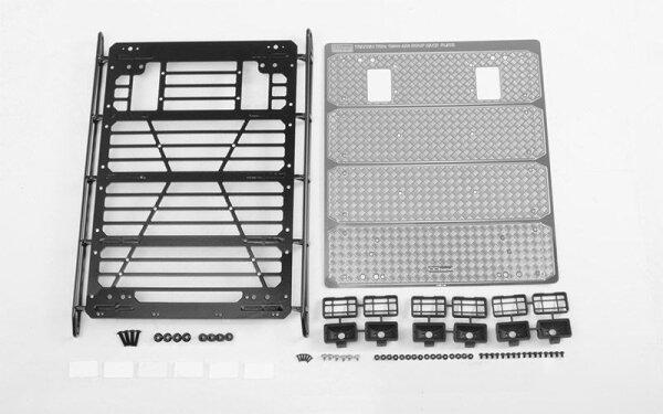 RC4WD VVV-C1001 Command Dachgepäckträger mit Diamantplatte & 6x quadratischen Leuchten