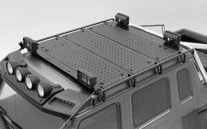 RC4WD VVV-C1003 Command Dachgepäckträger mit Diamantplatte und 2x quadratischen Leuchten