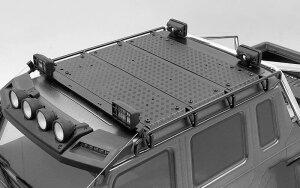 RC4WD VVV-C1004 Command Dachgepäckträger mit Diamantplatte und 4x quadratischen Leuchten