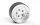 RC4WD VVV-C1017 Burato 2.2 Beadlock-Räder mit Zentrierkappen (Silber) 4 Stk.